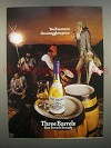 1975 Three Barrels Brandy Ad - Warm to Smugglers Price