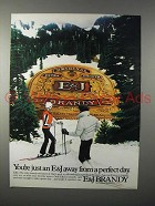 1983 E&J Brandy Advertisement- Just Away from A Perfect Day
