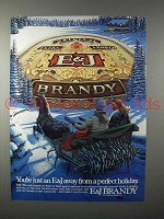 1983 E&J Brandy Ad - Just Away From Perfect Holiday