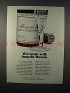 1976 Mumm Champagne Ad - in German