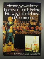 1979 Hennessy Cognac Ad - Before Pitt in Commons