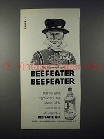 1959 Beefeater Gin Ad - The imported One