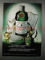 1974 Tanqueray Gin Ad - Fine Addition to Any Penthouse