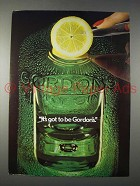 1982 Gordon's Gin Advertisement- It's Got to Be Gordon's