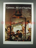 1975 Cointreau Liqueur Ad - The Art of Lingering