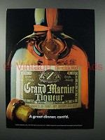 1976 Grand Marnier Liqueur Ad - A Great Dinner, cont'd