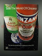 1984 Cinzano Vermouth Ad - Taste the World