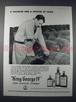 1959 King George IV Scotch Ad - Valinche & Snuffer