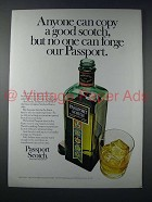 1977 Passport Scotch Ad - No One Can Forge