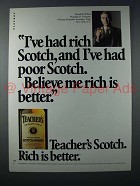 1983 Teacher's Scotch Ad - Rich is Better