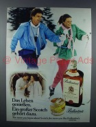 1979 Ballantine's Scotch Advertisement- in German