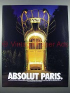 1999 Absolut Vodka Ad - Absolut Paris