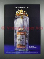 1986 Stolichnaya Vodka Ad - The Vodka to Receive