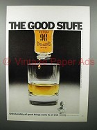 1971 Old Grand Dad Whiskey Ad - The Good Stuff