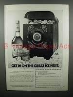 1972 Old Taylor Whiskey Ad - The Great Ice Heist