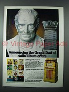 1980 Old Grand Dad Bourbon Ad - Radio Album Offers