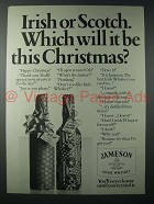 1982 Jameson Irish Whiskey Ad - Which Will it Be?