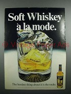 1971 Calvert Whiskey Ad - Soft Whiskey A La Mode