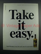 1971 Calvert Whiskey Ad - Take it Easy