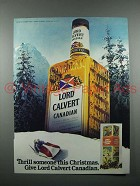 1980 Lord Calvert Canadian Whisky Ad - Thrill Someone
