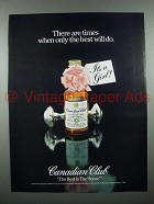1982 Canadian Club Whisky Ad - Only the Best Will Do