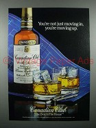 1983 Canadian Club Whisky Ad - You're Moving Up