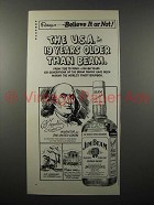 1975 Jim Beam Whiskey Ad - Ben Franklin