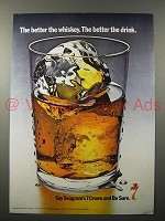 1970 Seagram's 7 Crown Whiskey Ad - Better Drink