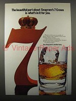 1971 Seagram's 7 Crown Whiskey Ad - In it For You