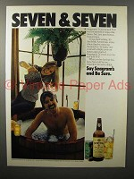 1976 Seagram's 7 Crown Whiskey Ad - Seven & Seven