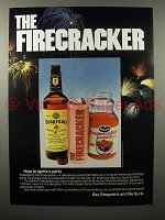 1976 Seagram's 7 Crown Whiskey Ad - The Firecracker