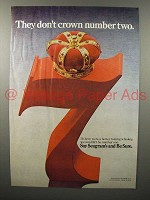 1976 Seagram's 7 Crown Whiskey Ad - Don't Crown #2