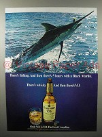 1976 Seagram's V.O. Canadian Whisky Ad - Black Marlin