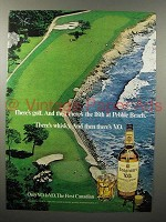 1976 Seagram's V.O. Canadian Whisky Ad - Pebble Beach