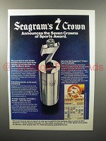 1978 Seagram's 7 Crown Whiskey Ad - Sports Award