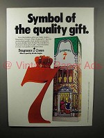 1978 Seagram's 7 Crown Whiskey Ad - Symbol of Quality