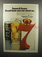1978 Seagram's 7 Crown Whiskey Ad - Seven & Seven