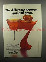 1978 Seagram's 7 Crown Whiskey Ad - Manhattan