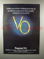 1978 Seagram's V.O. Canadian Whisky Ad - Waiting