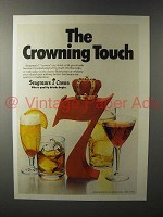 1979 Seagram's 7 Crown Whiskey Ad - Crowning Touch