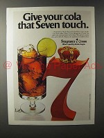1979 Seagram's 7 Crown Whiskey Ad - Give Your Cola