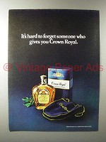 1979 Seagram's Crown Royal Whisky Ad - Hard to Forget