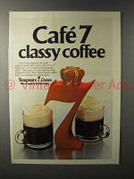 1980 Seagram's 7 Crown Whiskey Ad - Classy Coffee