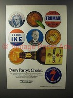 1980 Seagram's 7 Crown Whiskey Ad - Every Partys Choice