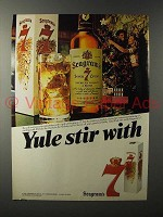 1983 Seagram's 7 Crown Whiskey Ad - Yule Stir
