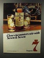 1983 Seagram's 7 Crown Whiskey Ad - Close Encounters