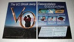 1983 2-pg Seagram's V.O. Canadian Whisky Ad - Break Away
