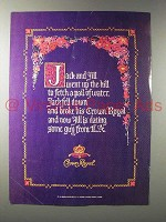 1987 Seagram's Crown Royal Whisky Ad - Jack and Jill
