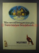 1992 Wild Turkey Bourbon Ad - Wise Men Bring Gifts