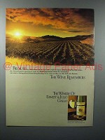 1980 Gallo Johannisberg Riesling Wine Ad - Remembers